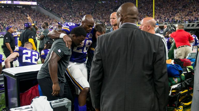 Peterson was injured against the Packers and placed on injured reserve. He could still return for a play-off push