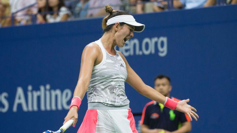 Muguruza crashed out of the US Open after losing to Sevastova