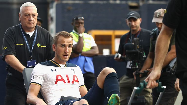 Harry Kane is set for a spell on the sidelines after damaging ankle ligaments