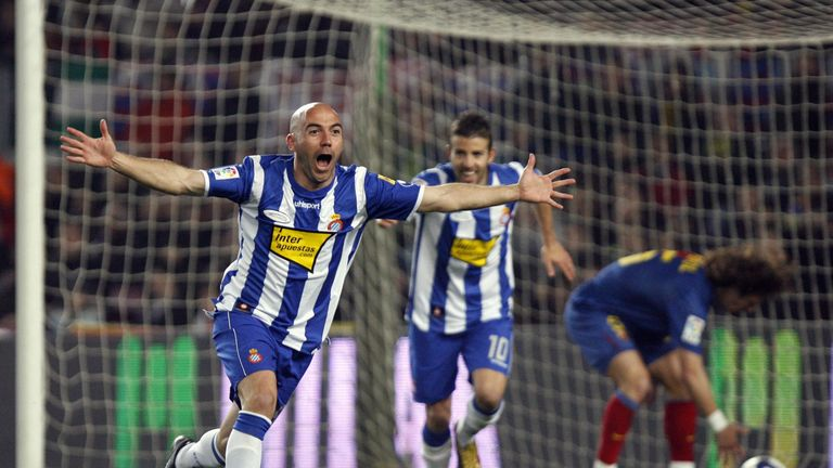 Mauricio Pochettino's Espanyol beat Barcelona during a bad run in early 2009