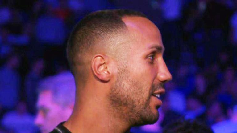 James DeGale watched Golovkin from ringside at The O2