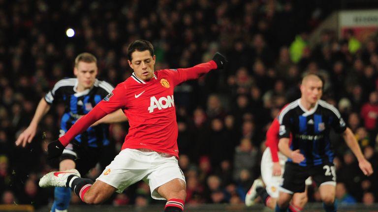 Chicharito left United to join Bayer Leverkusen for £7.3m in 2015