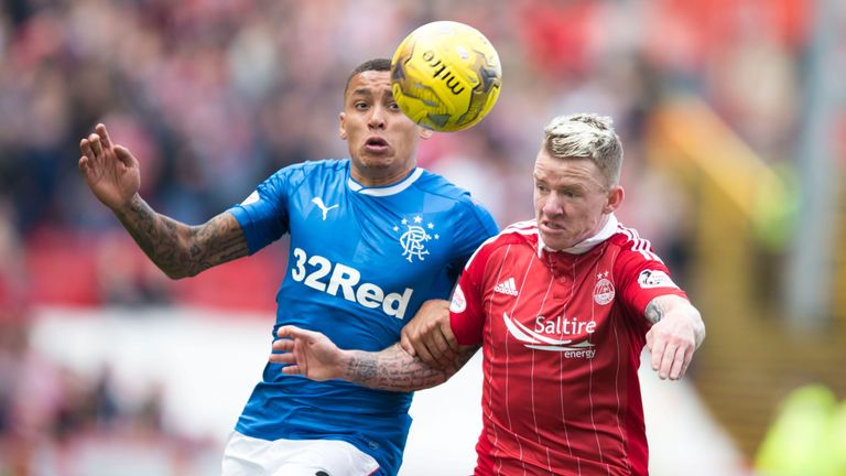 Aberdeen beat Rangers at Pittodrie earlier this season