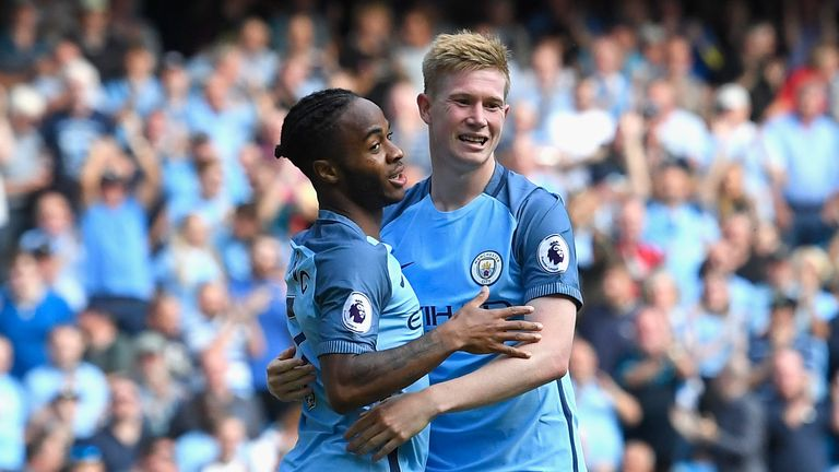Manchester City have players like Raheem Sterling and Kevin De Bruyne (right) who can turn a game, according to Phil Thompson
