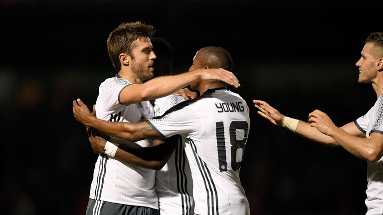 Michael Carrick opened the scoring for the visitors
