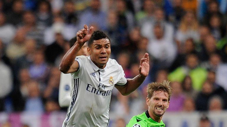 Real Madrid Casemiro has suffered a broken leg
