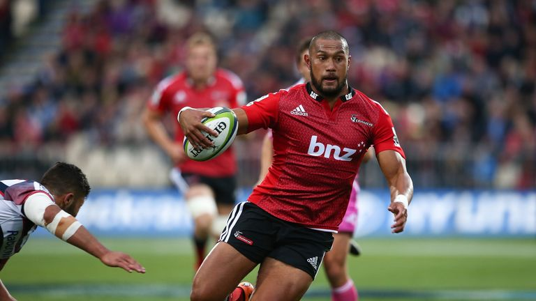 Robbie Fruean in action for the Crusaders in Super Rugby