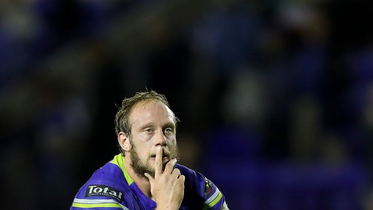 Warrington's Chris Hill shows his dejection after losing the 2016 Grand Final