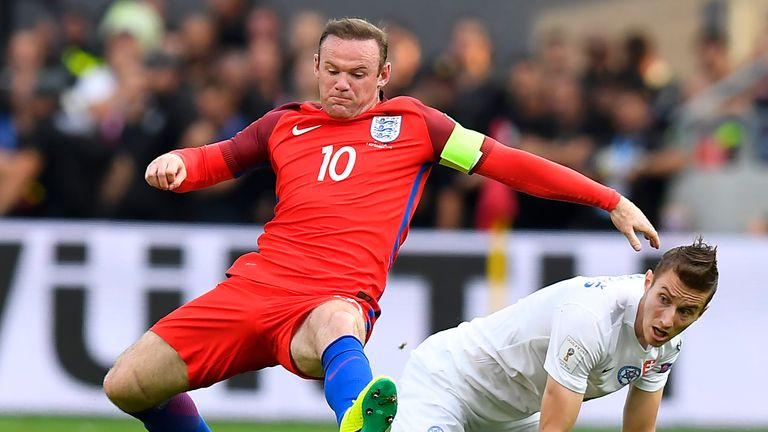 Wayne Rooney won his 116th cap for England, moving ahead of David Beckham's tally