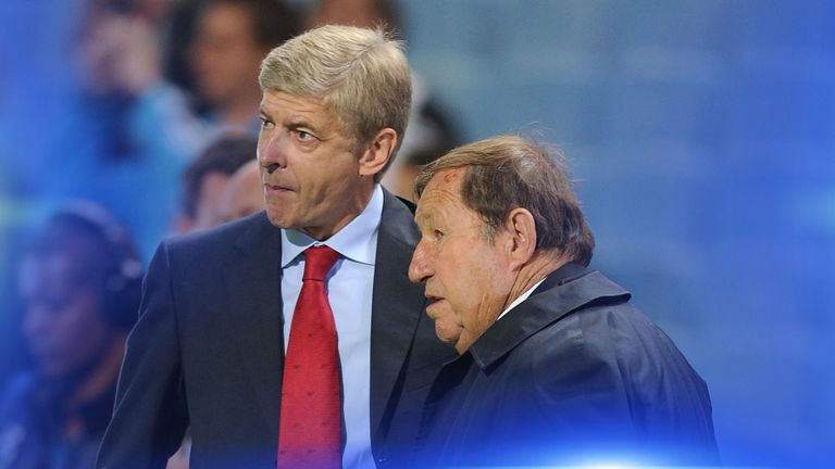 Guy Roux (right) managed Auxerre in three spells, totalling more than 40 years - twice as long as Arsene Wenger's (left) tenure at Arsenal