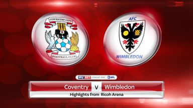 Coventry 2-2 AFC Wimbledon