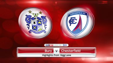Bury 2-1 Chesterfield