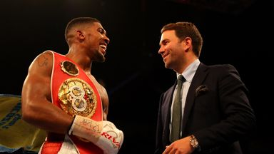 Eddie Hearn is waiting to find out if Anthony Joshua will face Wladimir Klitschko