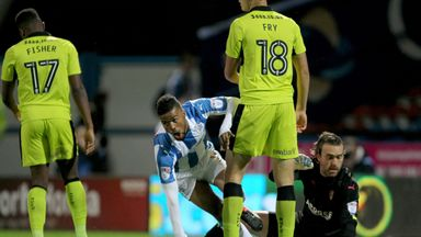 Huddersfield Town's Elias Kachunga got the only goal of the game