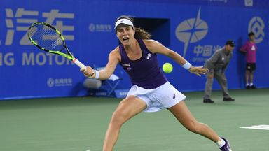 Johanna Konta is into the quarter finals of the Wuhan Open