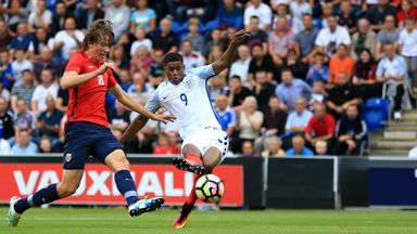 Marcus Rashford scored a hat-trick for England's Under-21s in front of Sam Allardyce on Tuesday
