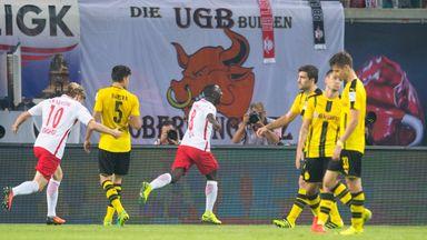 Naby Keita scored Leipzig's winning goal against Dortmund