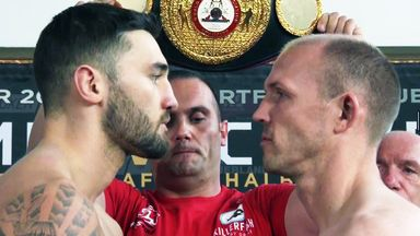 Nathan Cleverly and Juergen Braehmer face-off