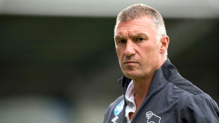 Nigel Pearson prior to the Pre-Season Friendly between Chesterfield and Derby County