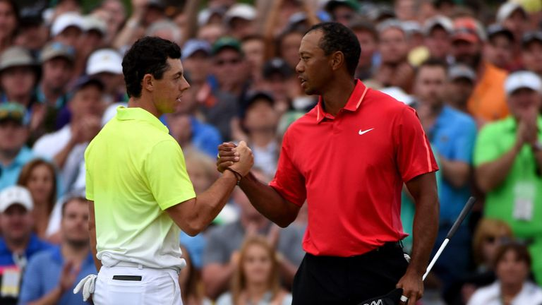 Rory McIlroy and Tiger Woods: Masters R4