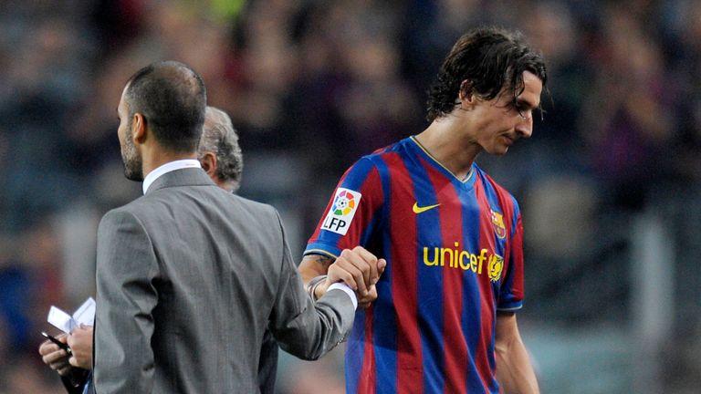 Zlatan Ibrahimovic did not see eye-to-eye with Pep Guardiola