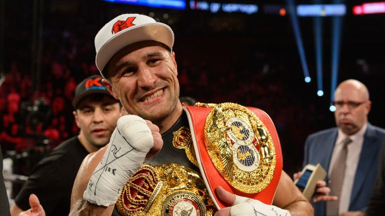 Sergey Kovalev holds the WBA, IBF and WBO light heavyweight titles