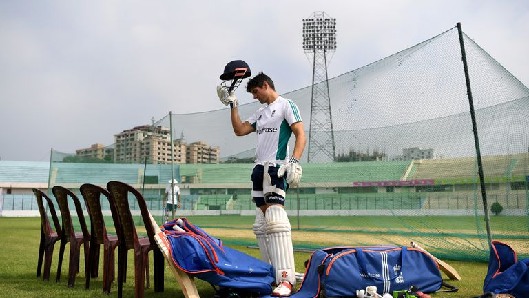 England captain Alastair Cook feels the heat