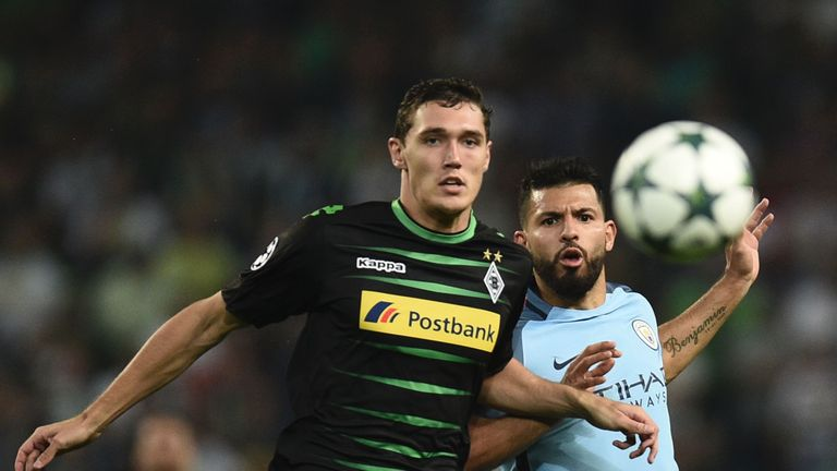 Andreas Christensen (left) misses out for Monchengladbach at Celtic Park
