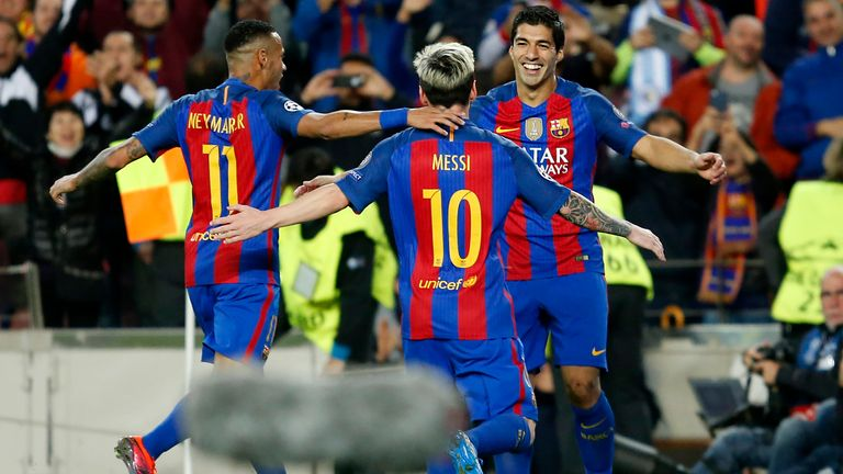 Neymar said he had been a part of a front three that made 'history' at Barcelona