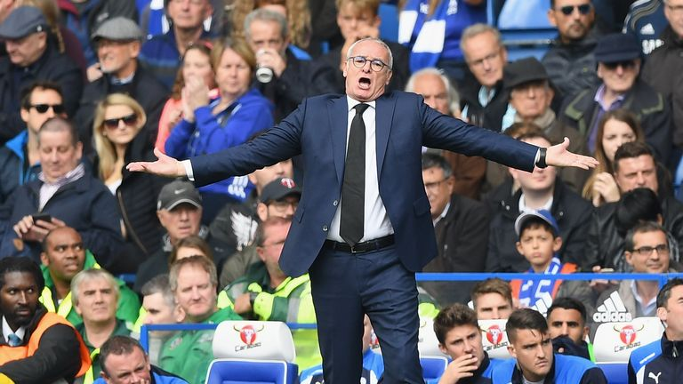 Claudio Ranieri's Leicester side are three points above the relegation zone