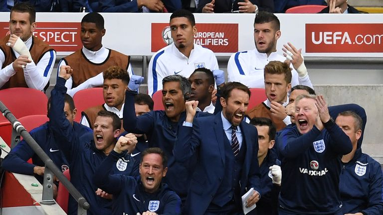 Southgate led England to two victories and a draw in their 2018 World Cup Qualifiers
