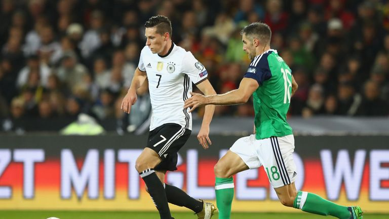 Draxler in action for Germany against Northern Ireland