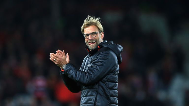 Klopp's Liverpool are currently joint-top of the Premier League