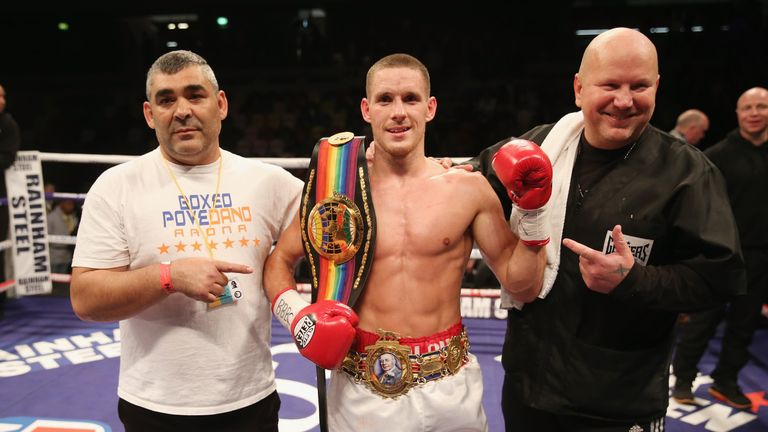 Liam Walsh secured an IBF world super-featherweight title shot by beating Andrey Klimov