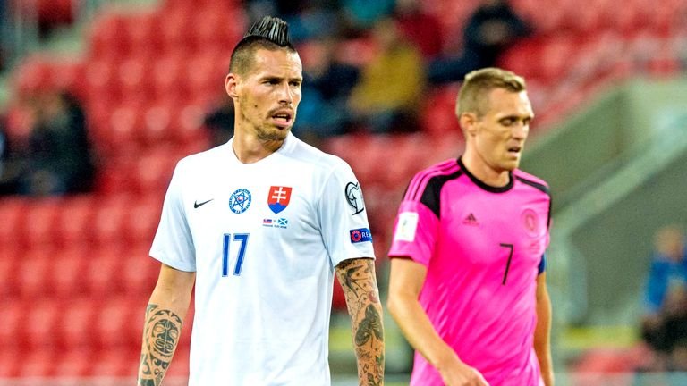 Napoli midfielder Marek Hamsik is Slovakia's danger man