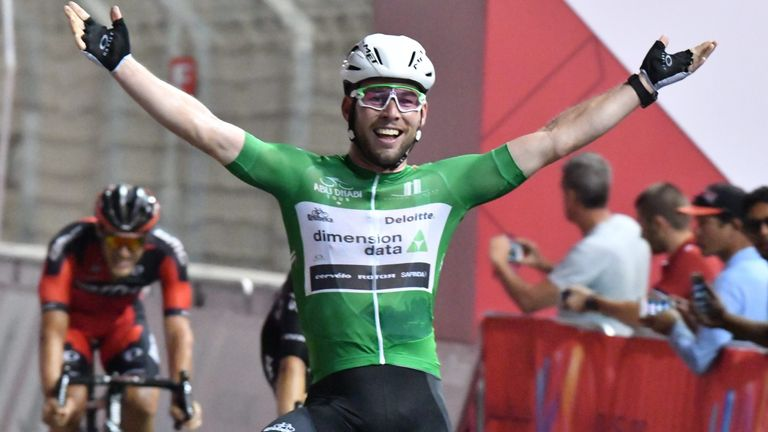 Cavendish sprinted to victory at the Yas Marina Circuit