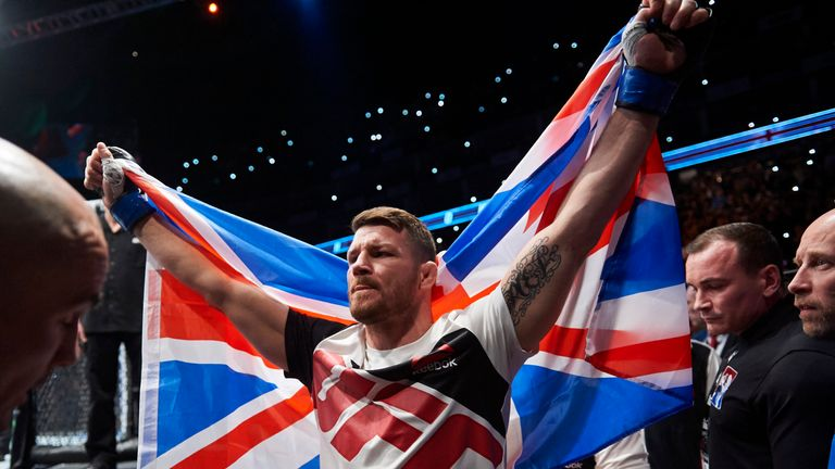 Michael Bisping defended UFC title with a win over Dan Henderson last October