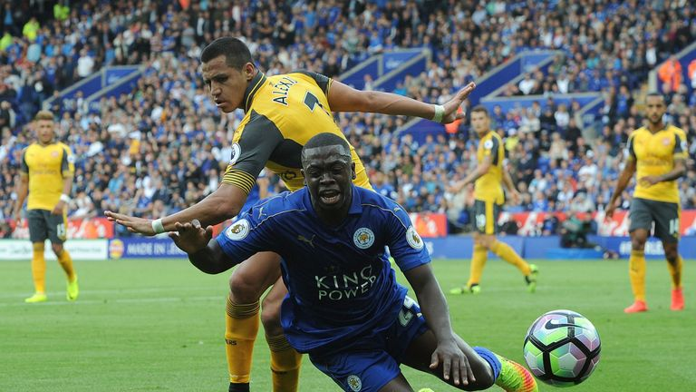 Nampalys Mendy was injured during Leicester's draw with Arsenal in August