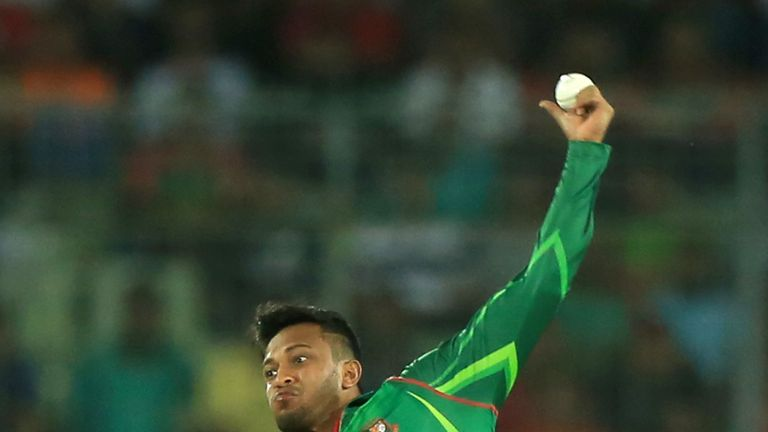 Spinner Shakib Al Hasan carries the biggest threat with the ball for Bangladesh