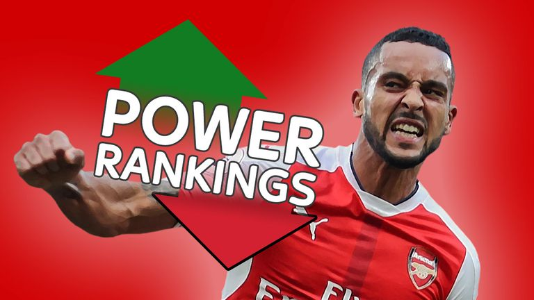 Arsenal's Theo Walcott has topped this week's Sky Sports Power Rankings