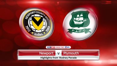 Newport 1-3 Plymouth