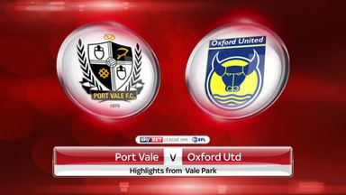 Port Vale 2-2 Oxford Utd