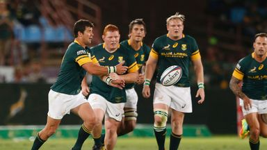Morne Steyn kicked four penalties and two drop-goals on his return to the Springboks starting line-up