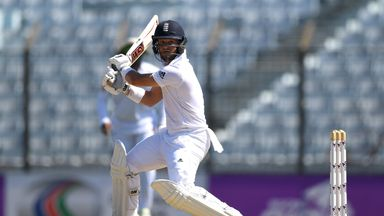 Ben Duckett during the first Test match between Bangladesh and England in Chittagong