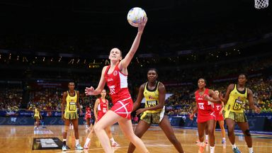 Joanne Harten led England to a victory against the Sunshine Girls that levels the Vitality International Series