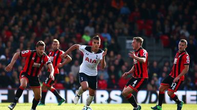 Erik Lamela and Tottenham were held by to a draw by Bournemouth