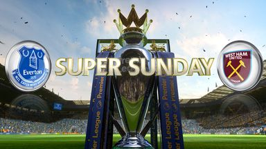 Everton face West Ham on Super Sunday. Watch build-up from 12.30pm on Sky Sports 1 HD