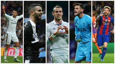 Cristiano Ronaldo, Riyad Mahrez, Gareth Bale, Hugo Lloris and Lionel Messi are on the shortlist