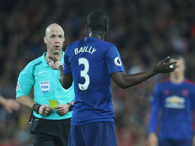 Eric Bailly: Backed to be first player booked at Stamford Bridge