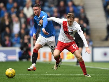 Luke Hendrie (r): Will stay at Rugby Park until the end of the season